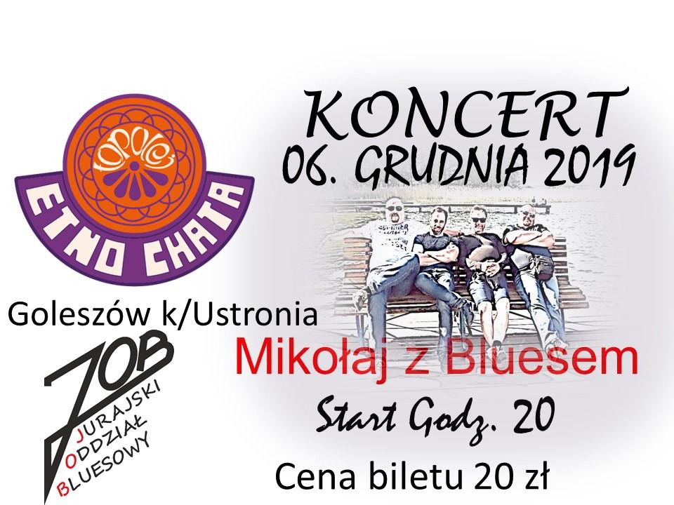 koncert JOB_Mikołajki z bluesem_Etno Chata TOPOLEJ